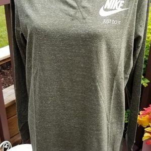 Nike dress M green long sleeve